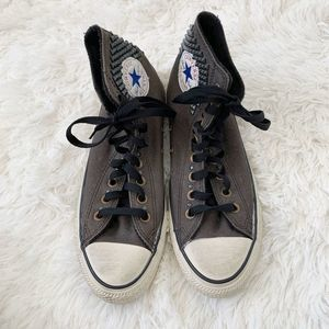 Converse | Studded High Top Gray Sneaker Size 9